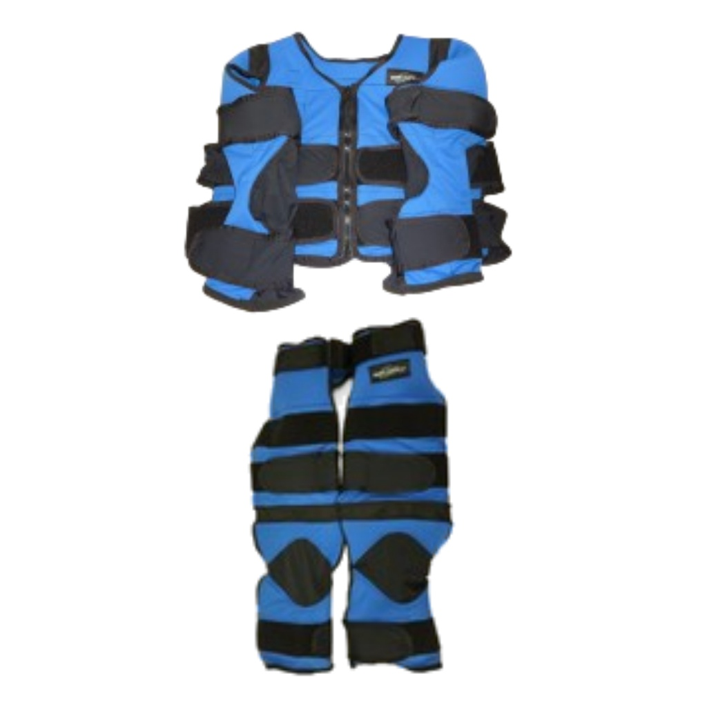 Blue Weighted Vest Suit